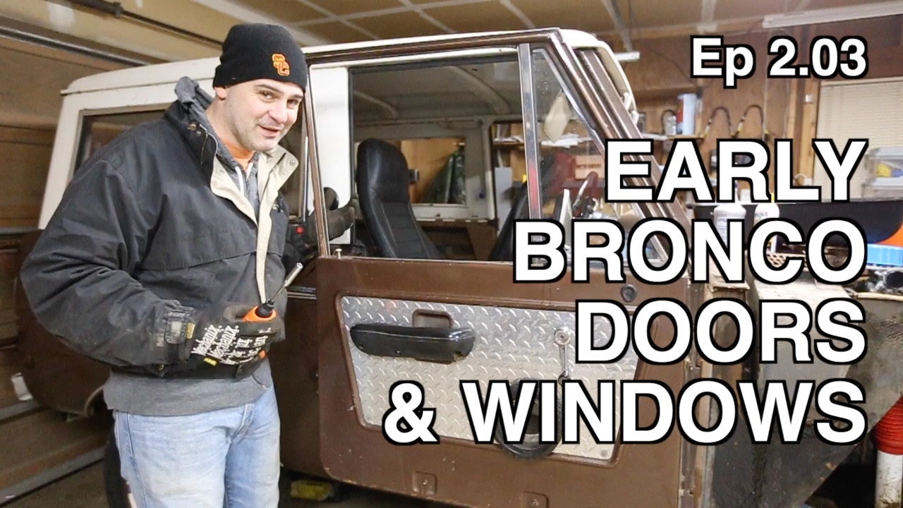 Ep 2.03 - Early Bronco Door u0026 Window Disassembly  sc 1 st  YouTube : early door - Pezcame.Com