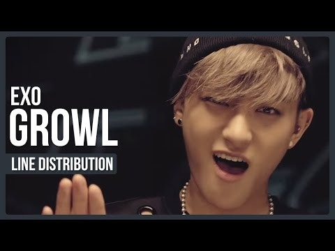EXO - Growl Line Distribution (Color Coded)