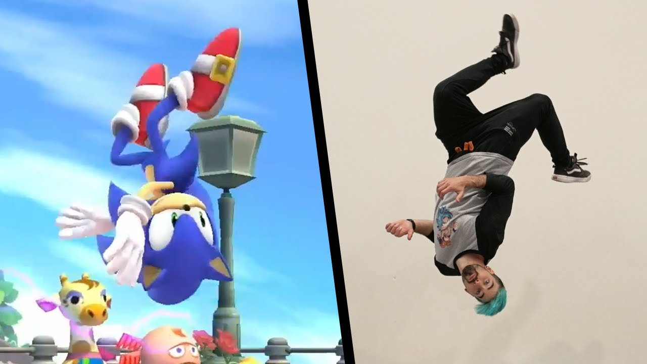 Stunts From Sonic The Hedgehog In Real Life