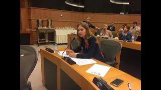 Выступление Олеси Медведевой в Европарламенте