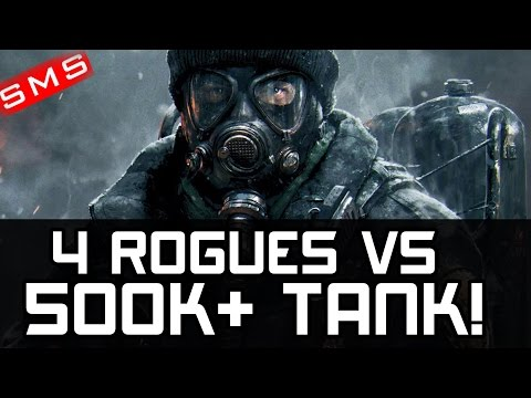 The Division: 1 VS 4 ROGUES GET WRECKED AGAINST 500K+ TOUGHNESS 1 SHOT TANKTICIAN!
