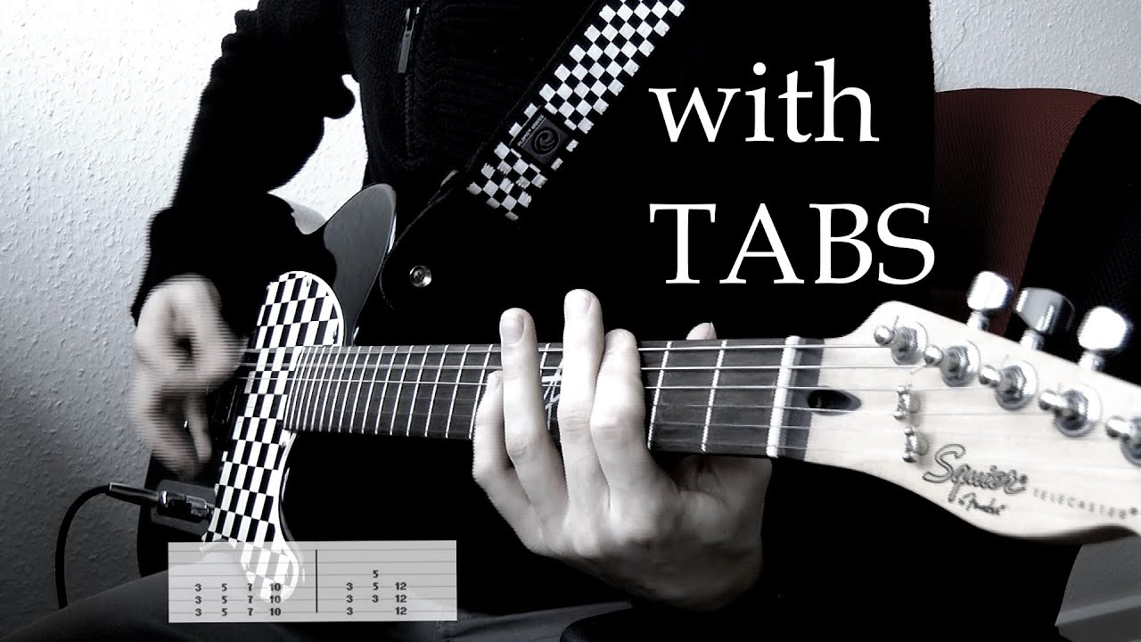 Papa Roach Never Have To Say Goodbye Guitar Cover Wtabs On Screen