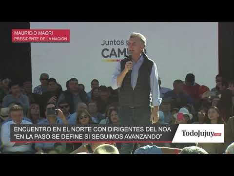 Macri en Jujuy: El 11 de agosto se define si seguimos hacia el futuro o volvemos al pasado