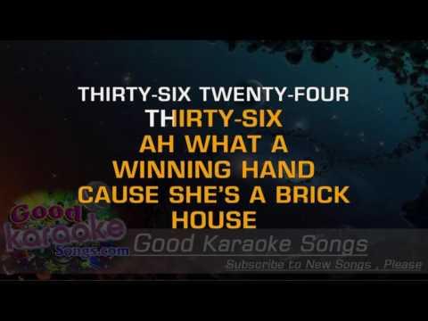 Brick House -  Commodores (Lyrics Karaoke) [ goodkaraokesongs.com ]