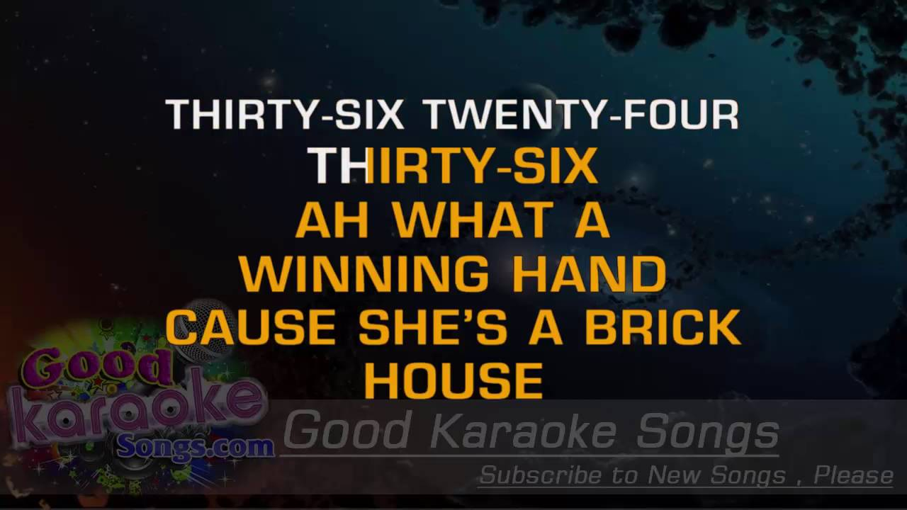 Brick House   Commodores (Lyrics Karaoke) [ Goodkaraokesongs.com ]   YouTube