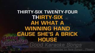 Brick House - Commodores (Lyrics Karaoke) [ goodkaraokesongs.com ]