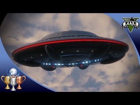 GTA 5 -  Flying UFO Easter Egg Over Mt. Chiliad -  Illuminati Alien UFO Mystery (GTA V) [100%] #GTA5