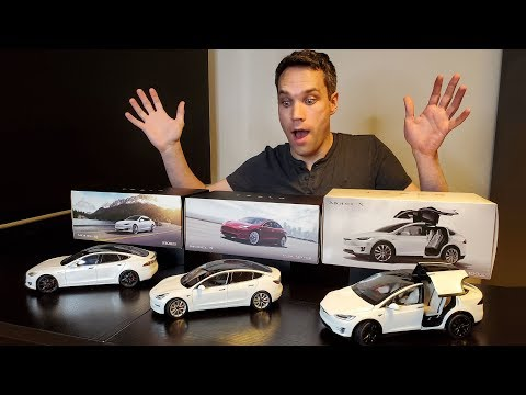 Unboxing Every Tesla Diecast Model!