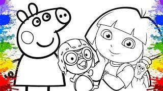 Desenho da Peppa Pig e George Dora Aventureira Cartoons infantil para familia jogos online crianca