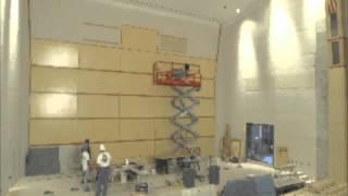 Wood Paneling Installation - Emma Eccles Jones Conservatory (Time Lapse)