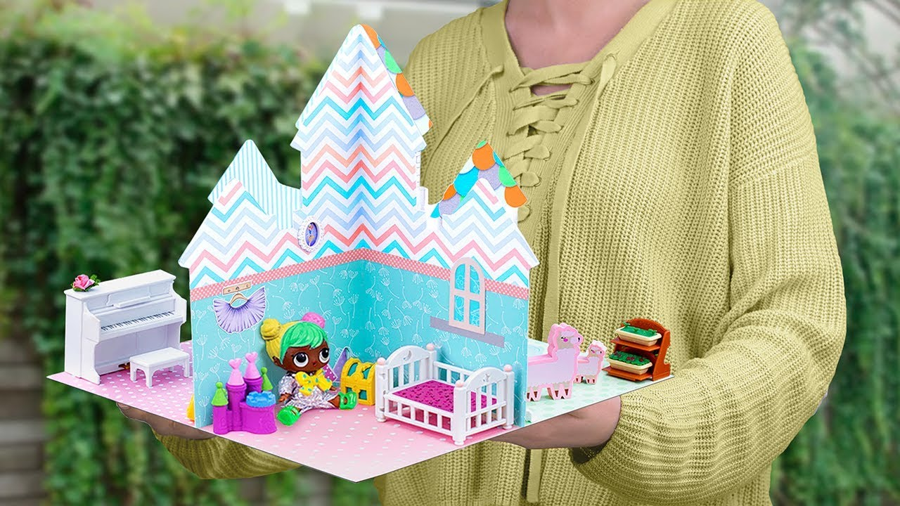 12 Kendin Yap Tarzı LOL Sürpriz Hilesi ve El İşi / Minyatür Bebek Evi