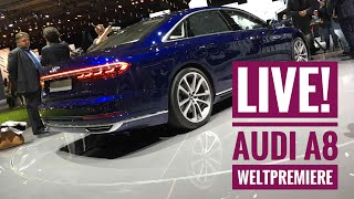 Die Technik-Highlights im neuen Audi A8 - Live von der Weltpremiere!