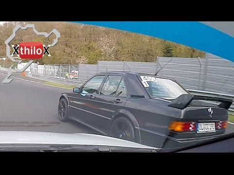 Mercedes 190 EVO with a broken mirror ;-) - Nürburgring Nordschleife - Seat Leon Cupra