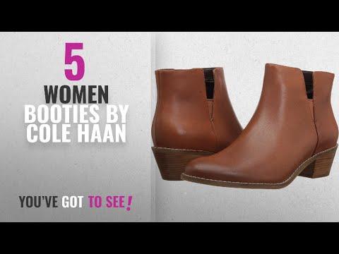 Top 10 Cole Haan Women Booties [2018]: Cole Haan Women's Abbot Bootie, British Tan, 7.5 B US