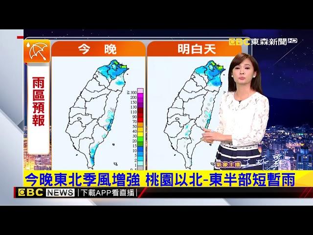 氣象時間 1071211 晚間氣象 東森新聞
