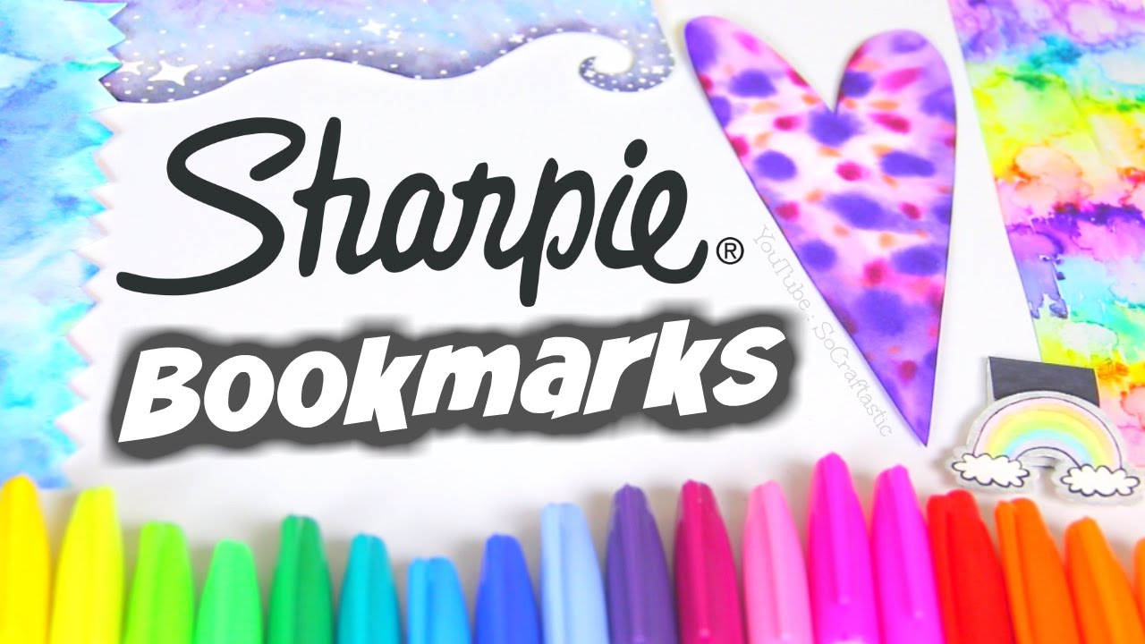 Watercolor bookmark patterns - Diy Sharpie Watercolor Bookmarks Paint Water Marble With Alcohol Socraftastic Youtube