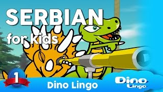 Dino Lingo Serbian for kids language learning, српски - Children learning Serbian language