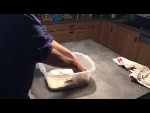 Rabats d'une pâte à pain au levain hydratée à 88%