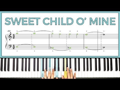 How To Play 'SWEET CHILD O' MINE' By Guns N' Roses On The Piano -- Playground Sessions