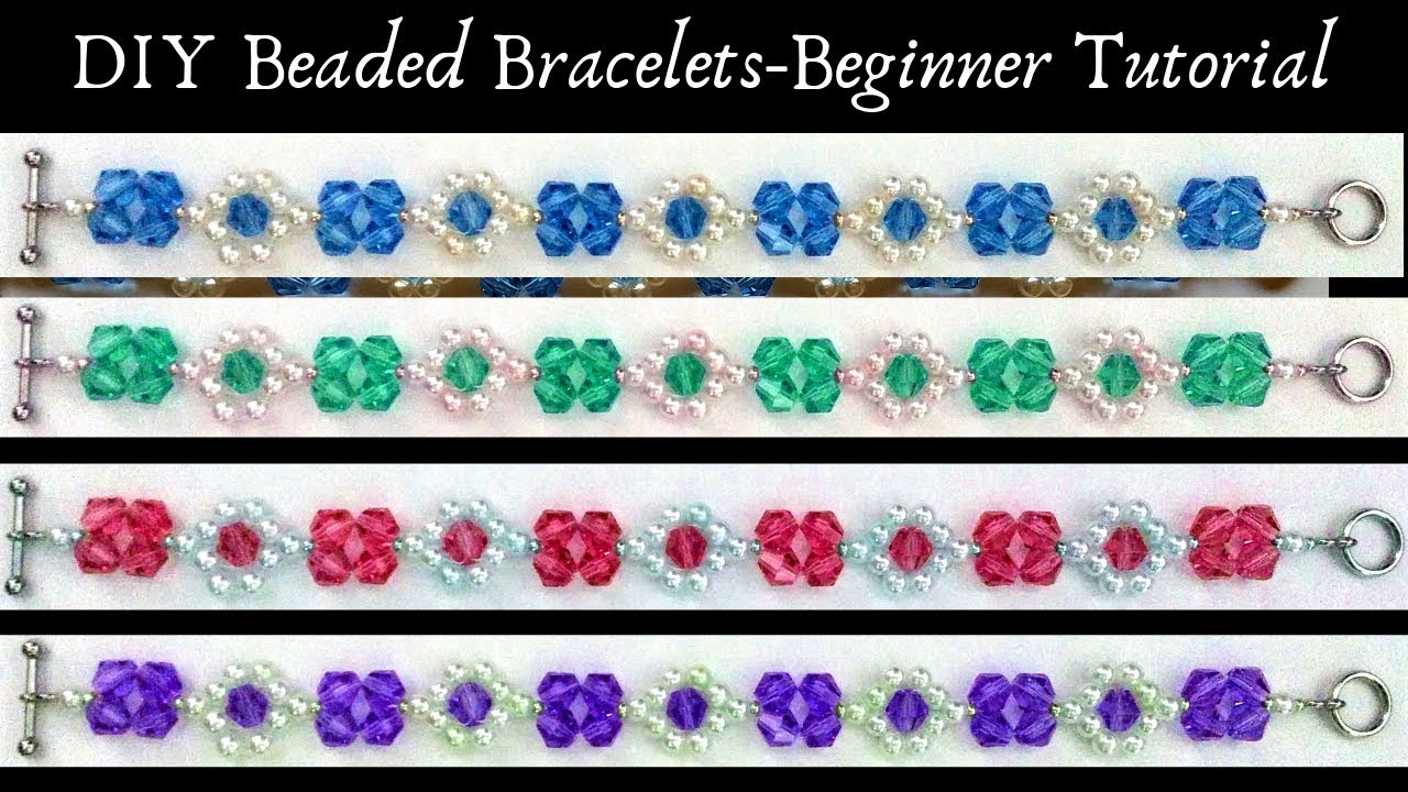 Beading tutorial for DIY Bracelets  Beaded Bracelets  Beginner project