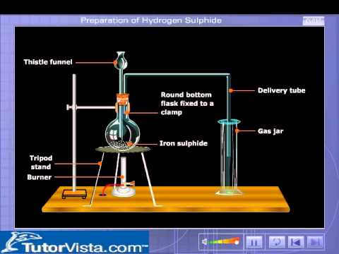 Preparation Of Hydrogen Sulphide Youtube