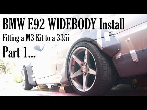 BMW E92 Widebody Kit Install (M3 kit on a 335i) - Part 1