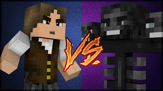 Minecraft Survival #127: Jazzghost VS Wither Boss!!!