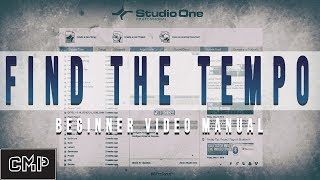 How to Find the Tempo of Any Song Studio One 4