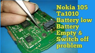 Nokia 105 (2017) Ta1010 Battery Empty & Switch off 100% Solution || Mobile R Sikhe