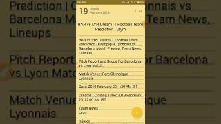 BAR vs LYN Dream11 Football Team Prediction | Olympique Lyonnais vs Barcelona | dream11 football