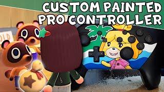 Animal Crossing: New Horizons – Custom Painted Nintendo Switch Pro Controller