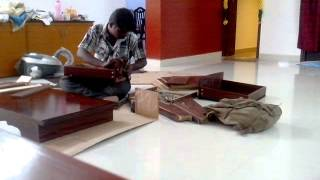 TV stand assembly 1