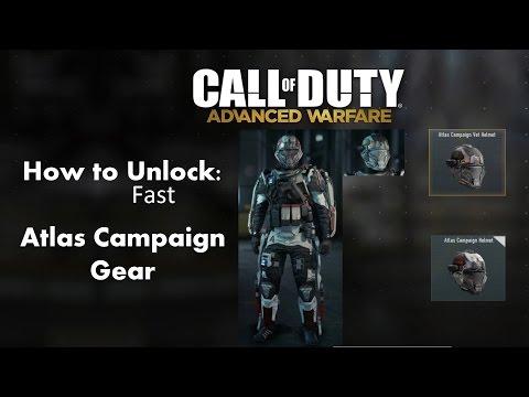 How to unlock Atlas Campaign Armor fastest method! Call of Duty Advanced Warfare!