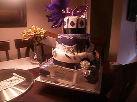 Girls Sweet Sixteen Masquerade Cake YouTube