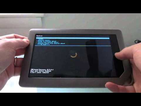 How to install ClockworkMod Recovery on the NOOK Tablet