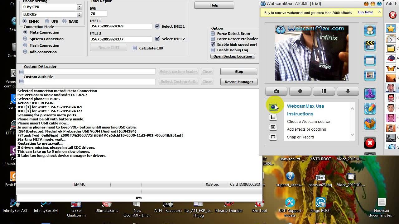 REPRIR IMEI INFINIX X559 WITH NCK BOX
