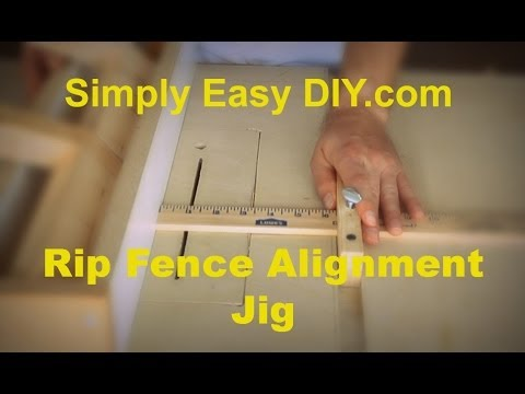 Rip Fence alignment jig