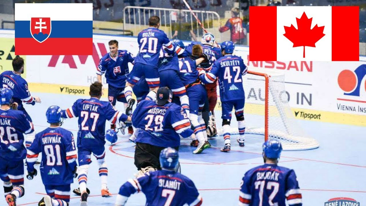 db949fcd344f6 Slovensko VS Kanada Majstrovstvá Sveta v Hokejbale 2019 SEMIFINÁLE ...