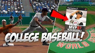 Playing the Best College Baseball Game EVER! MVP Baseball 07 PS2