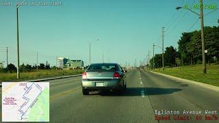 Toronto Etobicoke G2 (G1 Exit) Driving Road Test Route Ontario Canada 4K