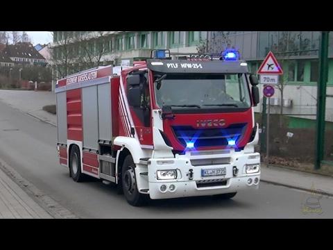 [Neuer ELW | Iveco Stralis | Bullhorn] Löschzug mit FF HLF Feuerwehr Kaiserslautern