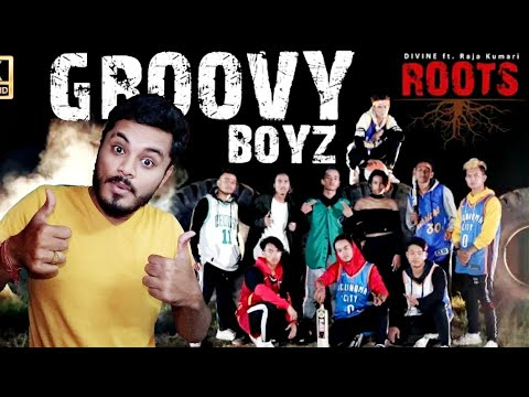 REACTION on Roots - DIVINE ft. Raja Kumari | Latest Hip Hop Cover Song by Groovy Boyz Nepali crew