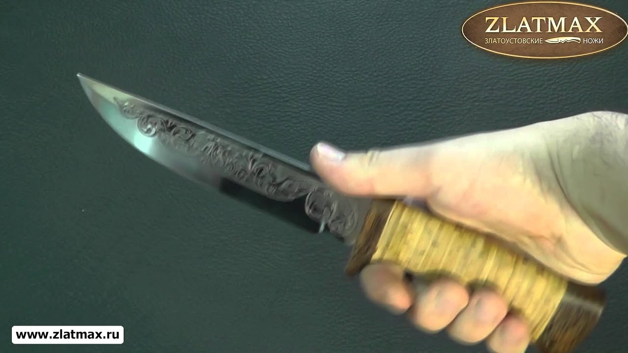 Видео Нож туристический НС-19 (40Х10С2М, Наборная береста, Текстолит)