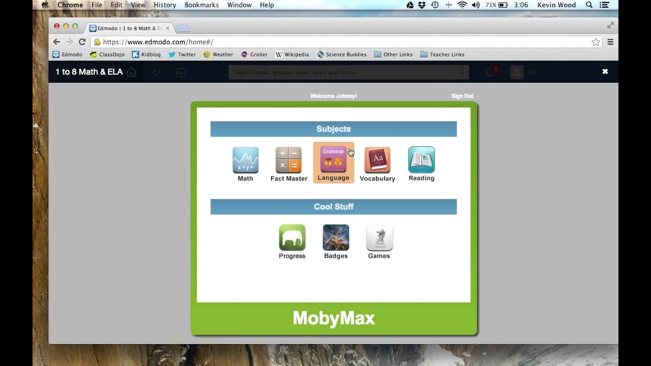Moby max math log in - How To Launch An App Use The Planner And Start Moby Max In Edmodo