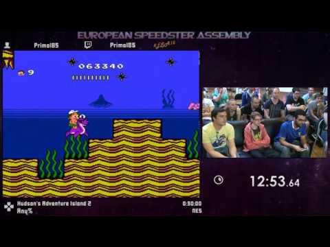 #ESA15Purple - Hudson's Adventure Island 2 [ Any% ] Speedrun by Primal85