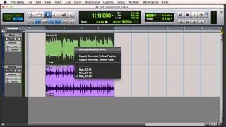 Loop Recording and Selecting Alternate Takes in Pro Tools