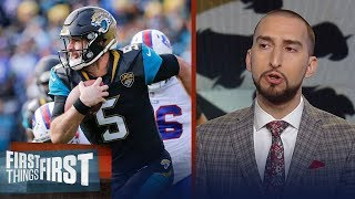 Nick and Cris on the Jaguars' 10-3 win over the Bills in the NFL Playoffs | FIRST THINGS FIRST