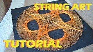 STRING ART TUTORIAL | timelapse | СТРИНГ АРТ обучение