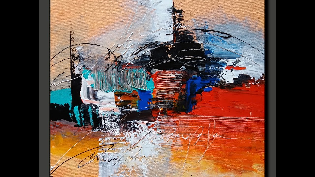 acrylic abstract painting in