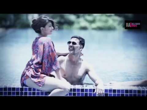 jacqueline fernandez hot bikini with Akshay kumar  in pool thumbnail